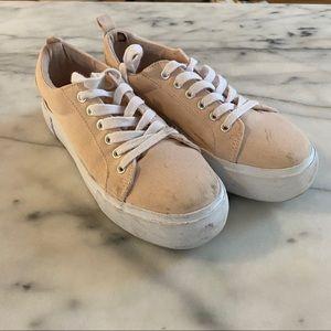 H&M size 37 platform sneakers